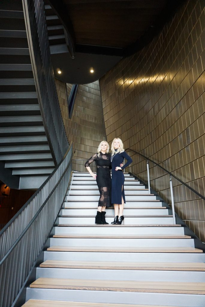 Katrina Olson and Karalyn Reardon in the National Music Centre Calgary