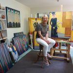 Audrey Mabee in her studio by Katrina Olson