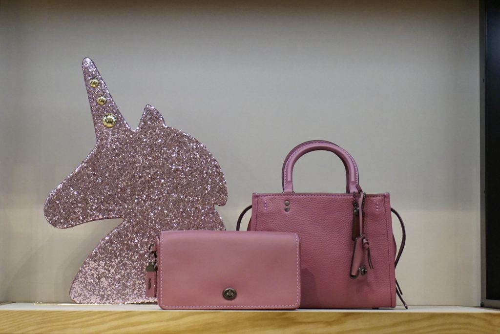 Coach Create Pink Dinkie and Unicorn