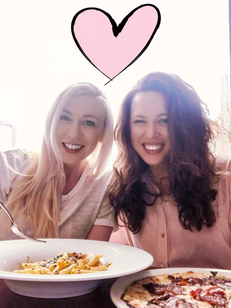 Katrina Olson & Stasia Schmidt at Cilantro Restaurant in Calgary