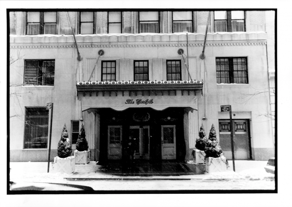 The Carlyle Hotel in Winter