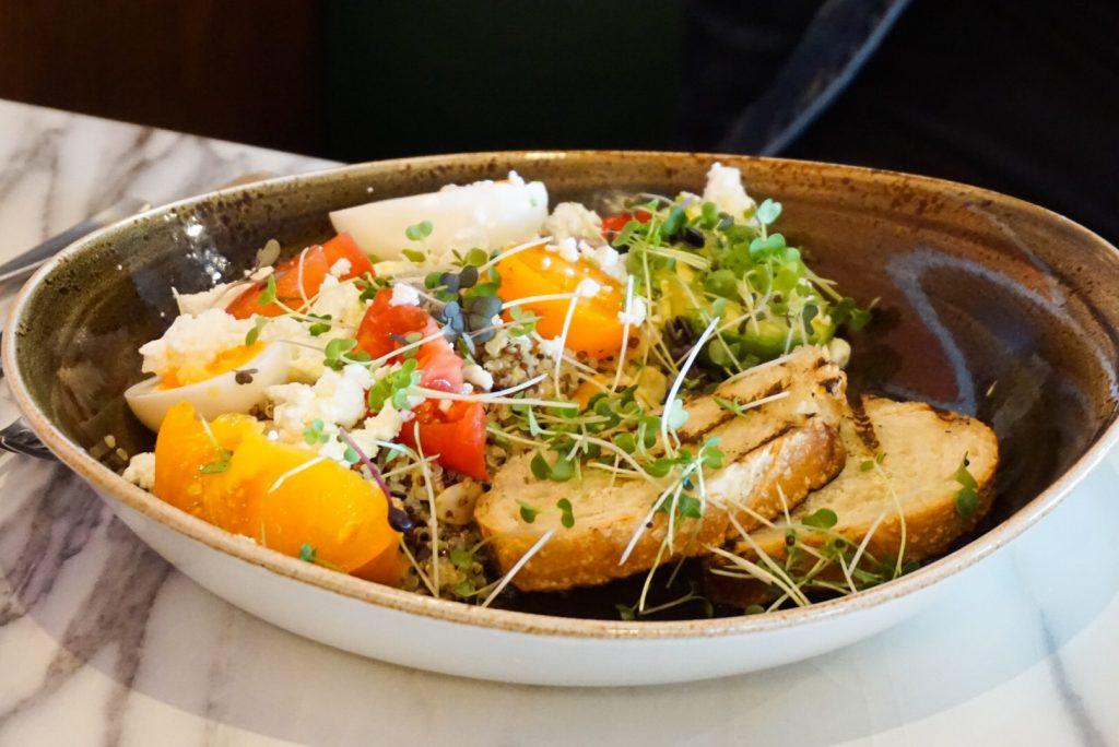 quinoa salad at brekkie calgary