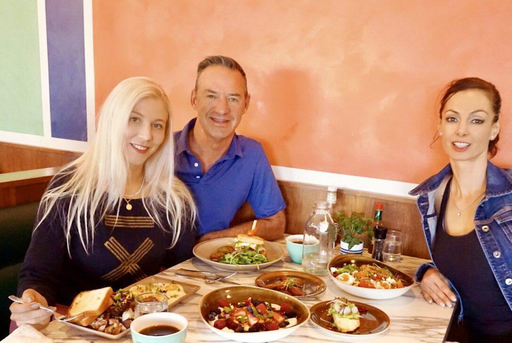 Katrina Rob and Szilvia at Brekkie for breakfast in Calgary