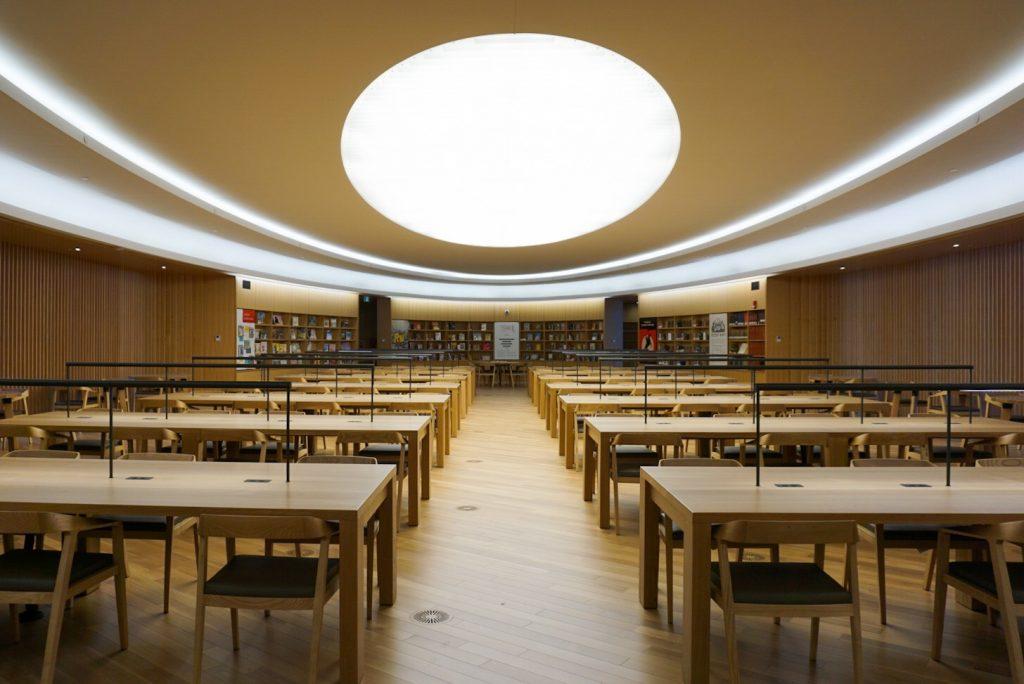 Calgary Central Library desks
