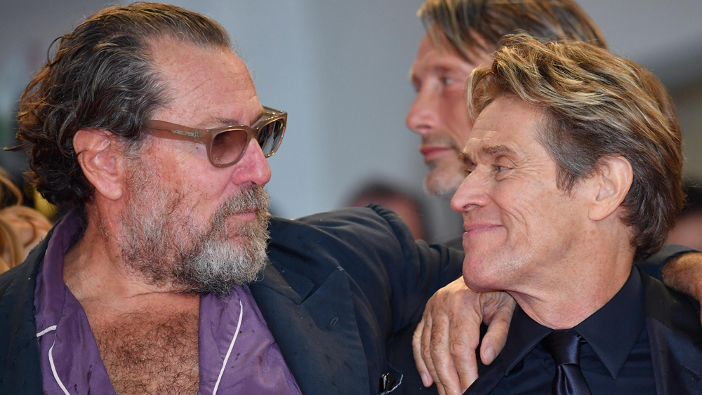 Mandatory Credit: Photo by ETTORE FERRARI/EPA-EFE/REX/Shutterstock (9847937ea) US artist Julian Schnabel (L) with US actor Willem Dafoe arrive for the premiere of 'At Eternity's Gate' at the 75th annual Venice International Film Festival, in Venice, Italy, 03 September 2018. The movie is presented in official competition 'Venezia 75' at the festival running from 29 August to 08 September. 75th Venice International Film Festival, Italy - 03 Sep 2018