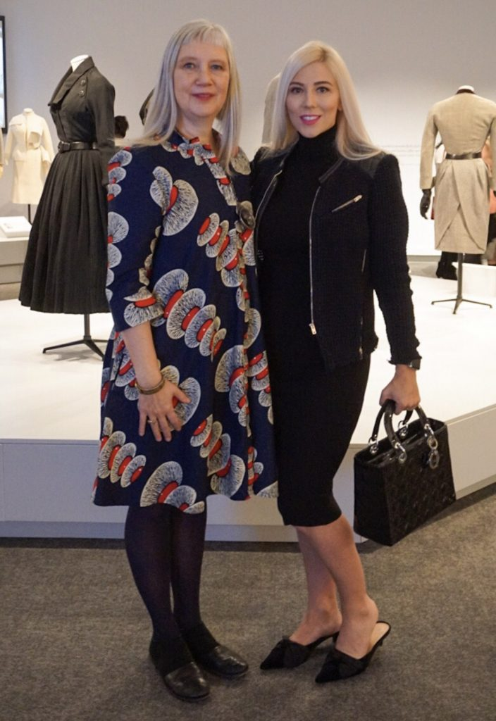 Curator Dr. Alexander Palmer and Katrina Olson-Mottahed Dior at Glenbow