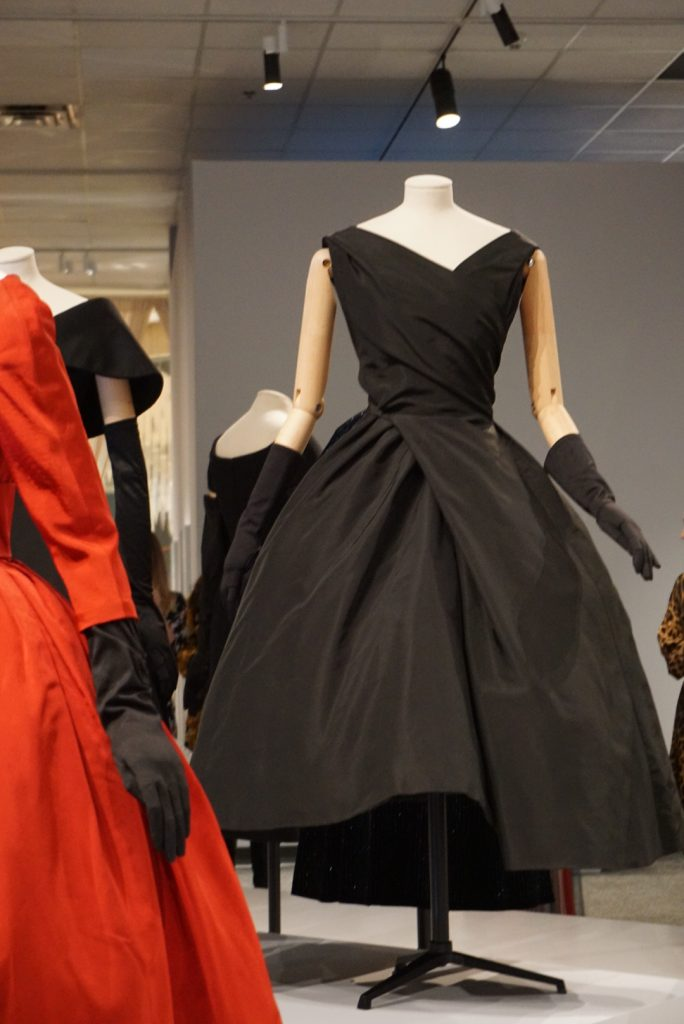 Dior little black dress at Glenbow