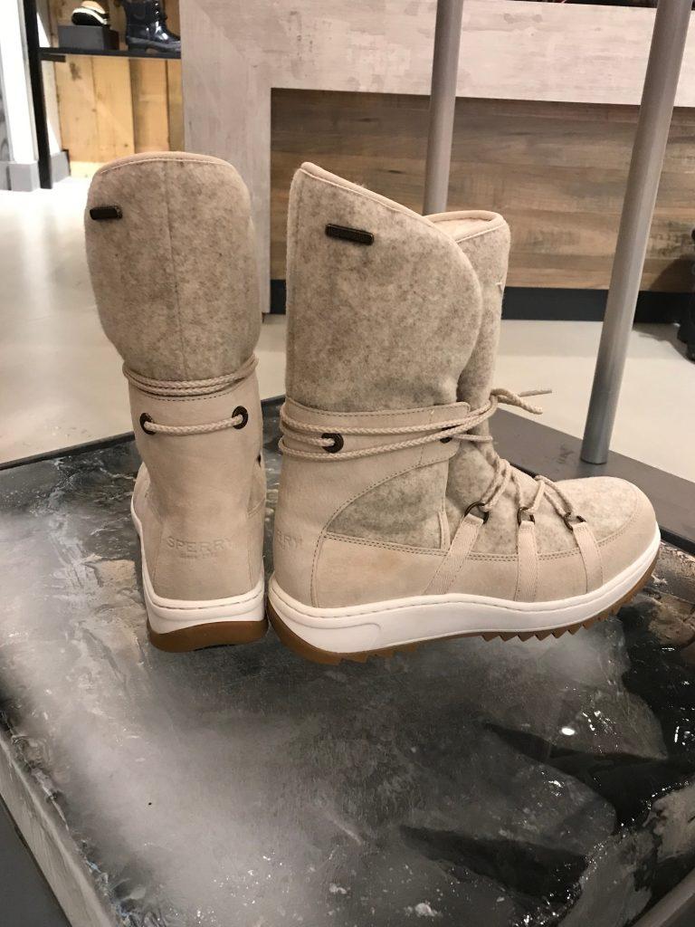 SPERRY Women's Powder Arctic Grip Winter Boots on ice