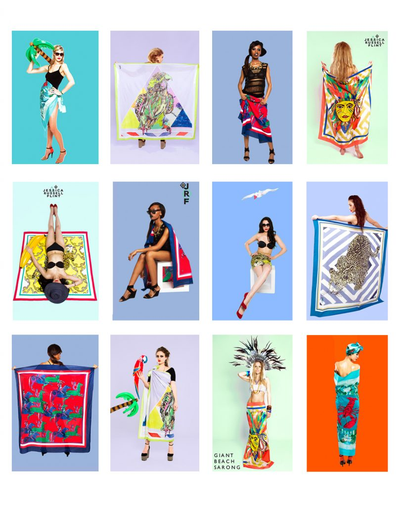 beach sarong examples from previous years jessica russell flint art