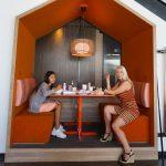 Katrina Olson and fam at Chix Eggshop square