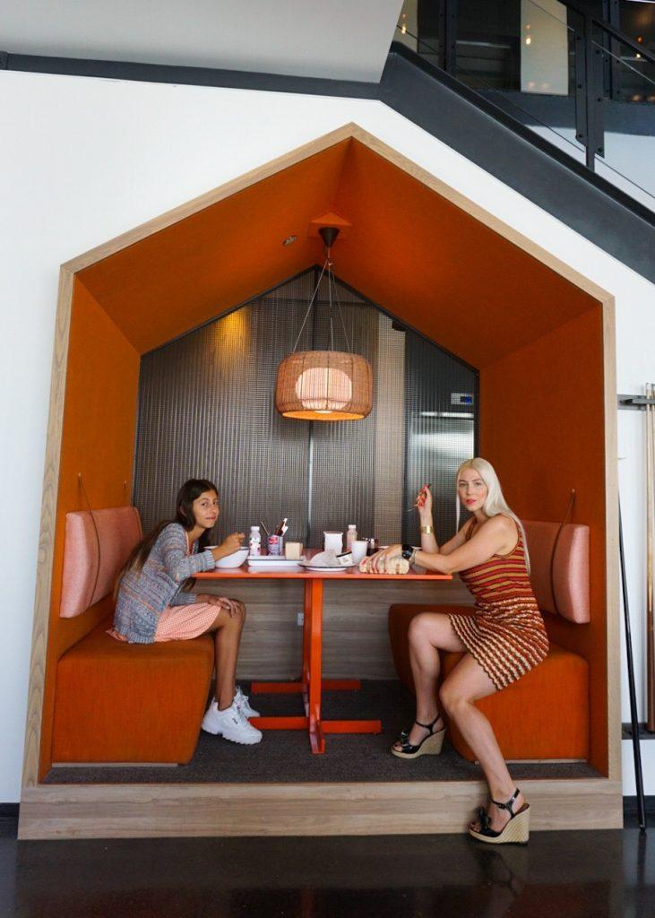Katrina Olson and fam at Chix Eggshop