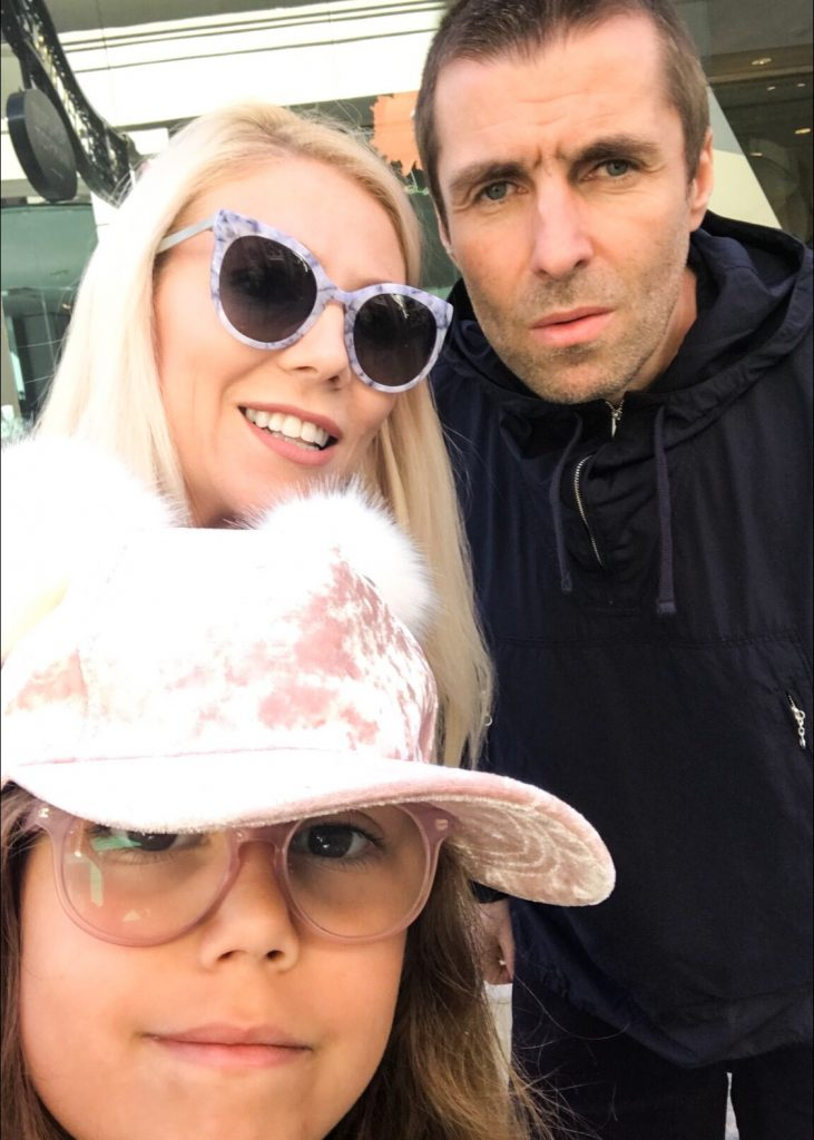 Liam Gallagher and Katrina Olson 2017