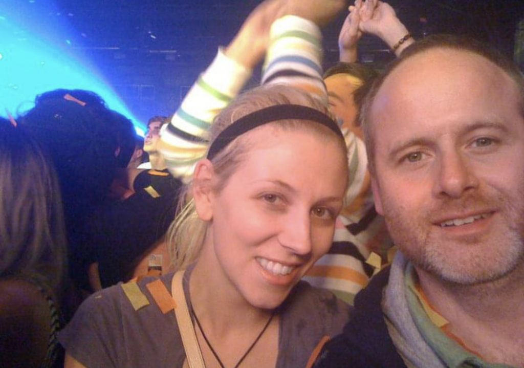 Katrina Olson and Chris Kuzmanovich at the Flaming Lips Concert